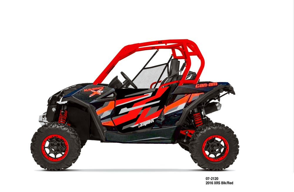 Dragonfire Racing 2 Seat Pursuit Door Graphics Can Am