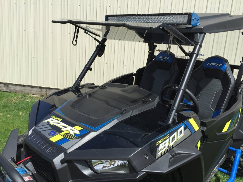 Emp Flip Up Windshield For Rzr Xp1k And 2015 Rzr 900 187 Bad