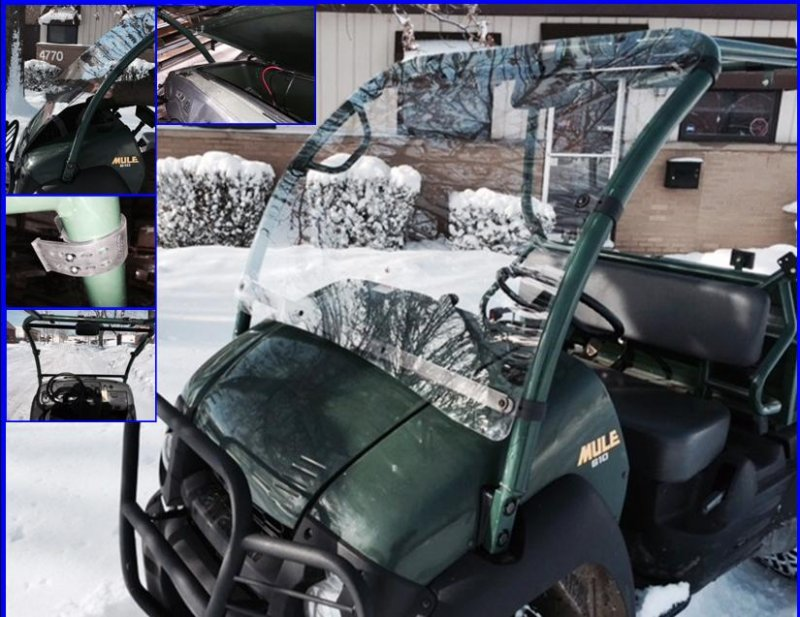 emp kawasaki mule 610 windshield (hard coated polycarbonate) » bad
