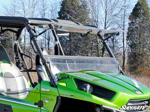 superatv kawasaki teryx 800 scratch resistant flip windshield