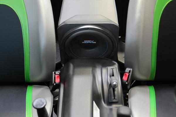 SSV Works Kawasaki Teryx 2014 2 seat Rear Center Console Subwoofer Enclosure for 10 Speaker