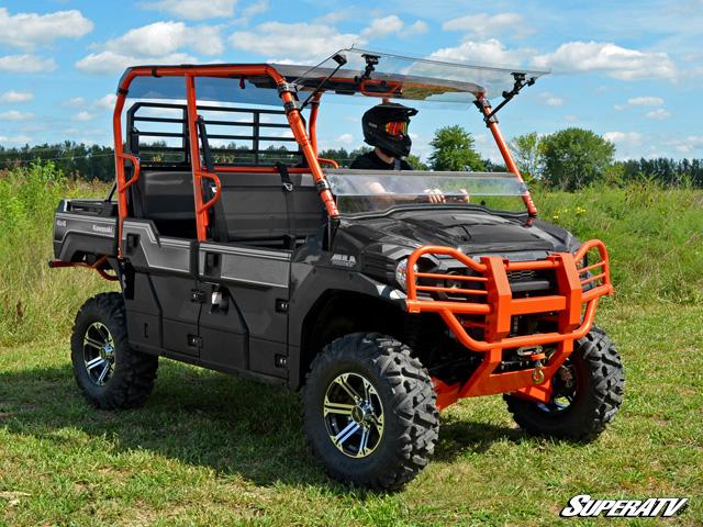superatv – kawasaki mule pro fxt scratch resistant flip windshield