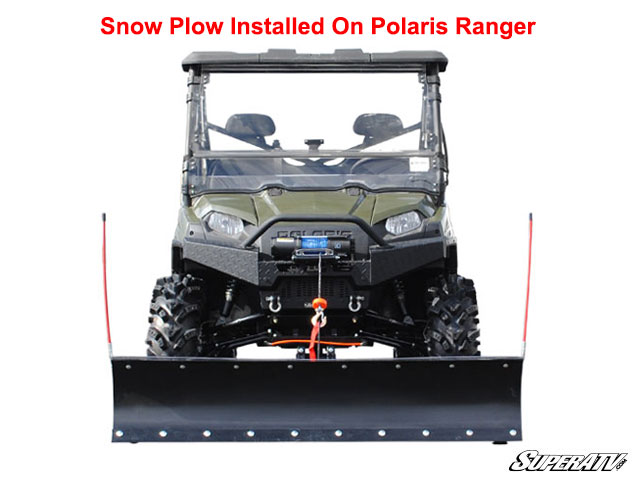 diy how to add blade side on a plow atv