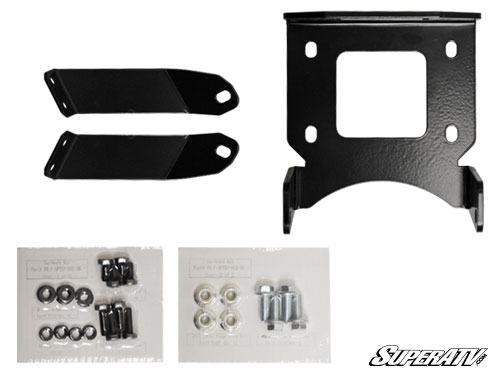 SuperATV Polaris Sportsman XP 850/Scrambler 1000 Winch Mounting Plate