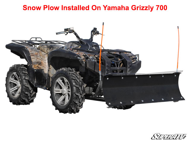 superatv yamaha grizzly 660 700 plow pro heavy duty snow