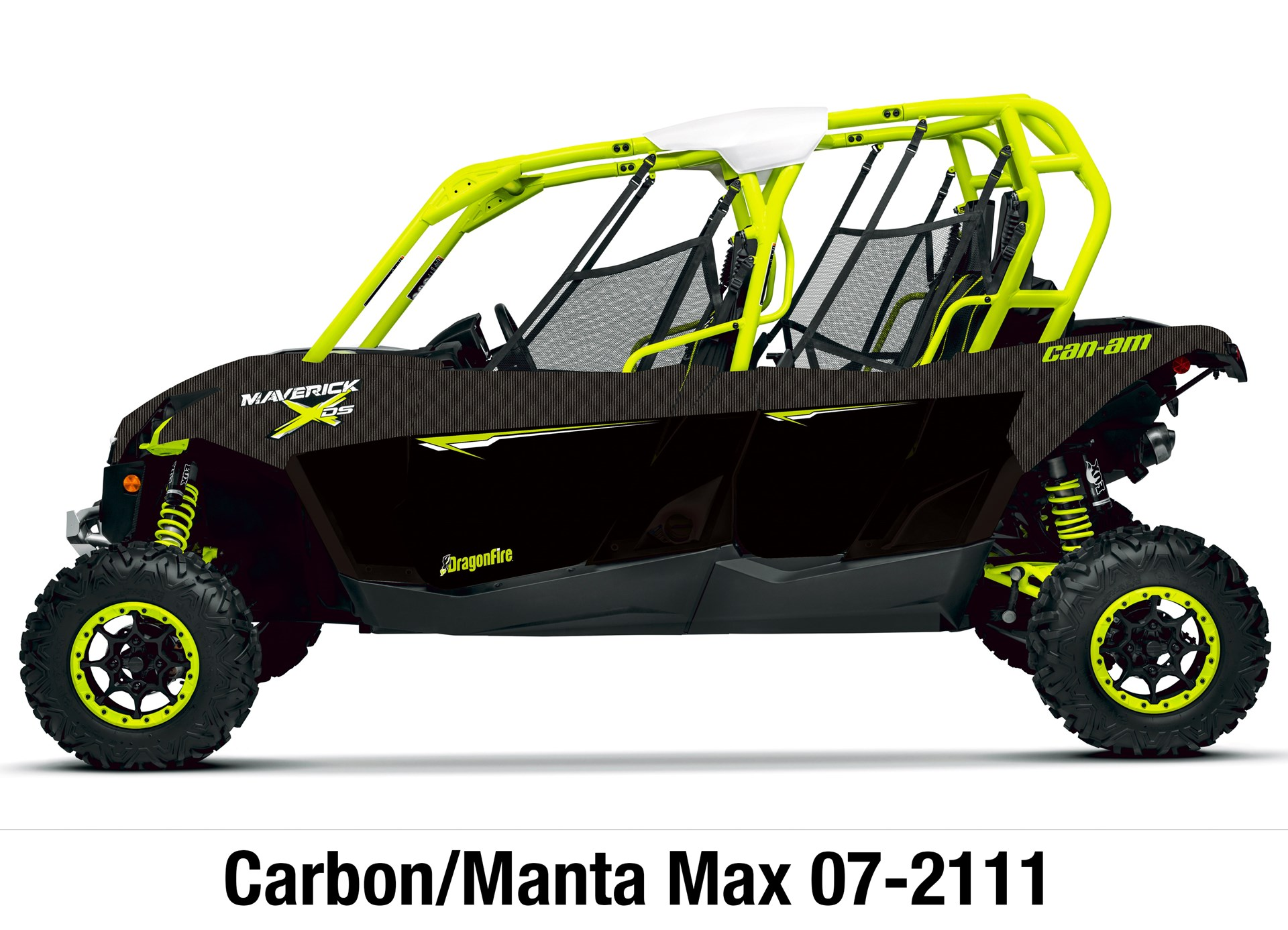 Dragonfire Racing 4 Seat Pursuit Door Graphics Can Am